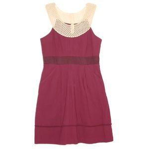 Anthropologie Floreat Burgundy Red Pocket Dress 6